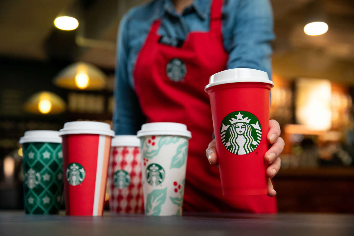 Starbucks is wishing everyone seasons greetings with the release of its annual holiday cups.
