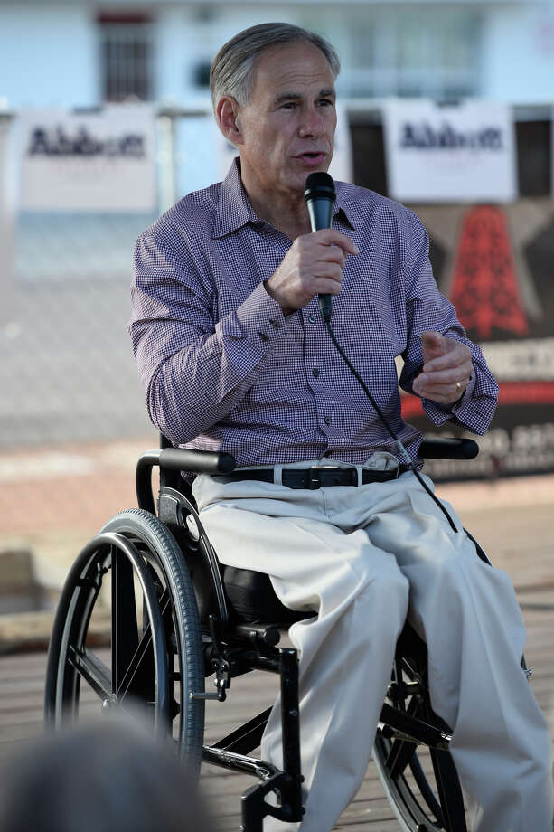 Texas Gov. Greg Abbott made a campaign stop in Midland to talk to supporters about the election Nov. 1, 2018, at Mac's Bar-B-Que.  James Durbin/Reporter-Telegram Photo: James Durbin / ? 2018 Midland Reporter-Telegram. All Rights Reserved.