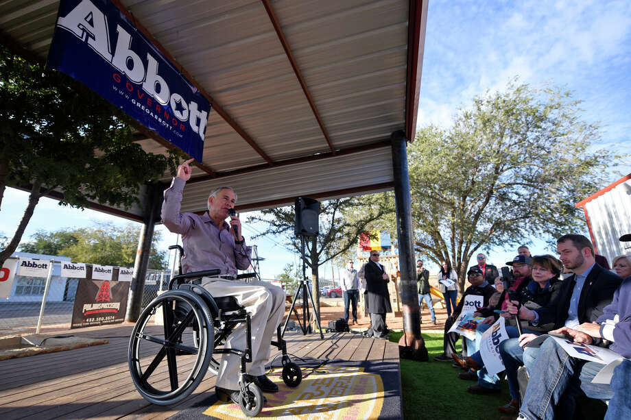 Texas Gov. Greg Abbott made a campaign stop in Midland to talk to supporters about the election Nov. 1, 2018, at Mac's Bar-B-Que.  James Durbin/Reporter-Telegram Photo: James Durbin / © 2018 Midland Reporter-Telegram. All Rights Reserved.