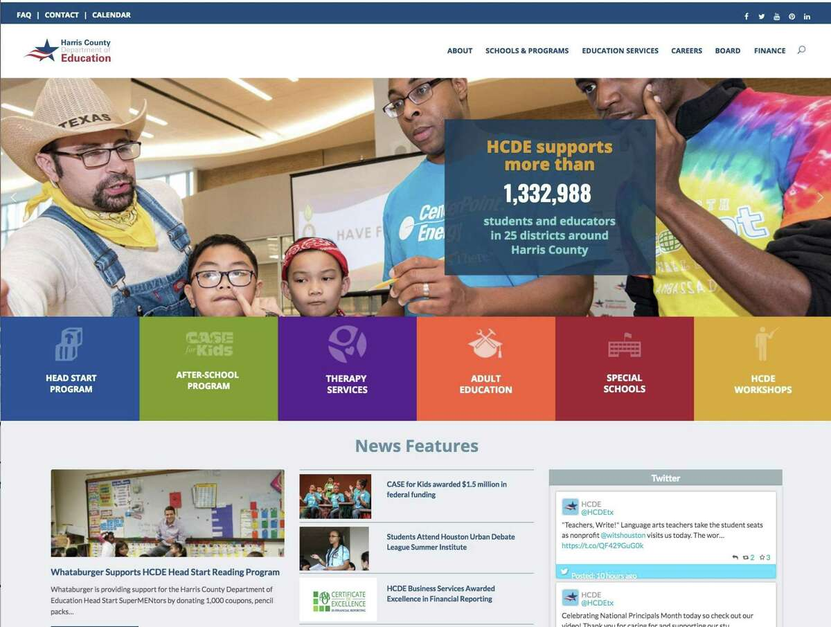 The Harris County Department of Education launched its new website on Oct. 31.