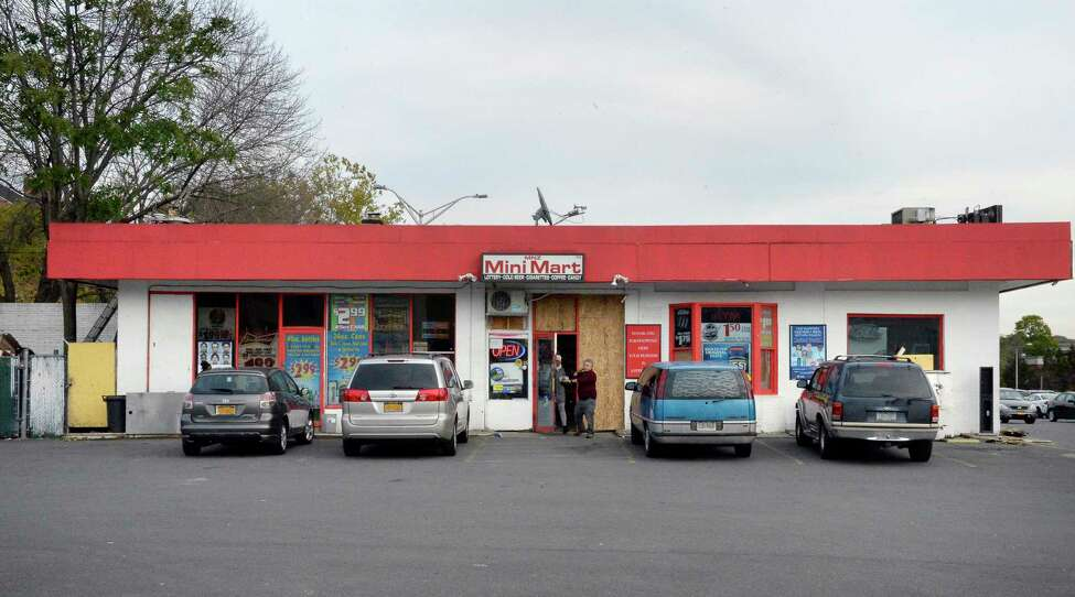 The mini mart next to the DMV building on South Pearl Street in Albany. Limo company owner Shahed Hussain operated this store when it was a Getty gas station nearly two decades ago. (John Carl D'Annibale / Times Union)