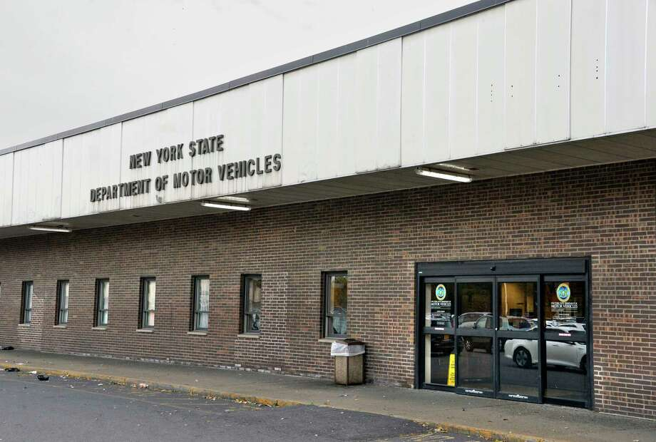 The former state Department of Motor Vehicle in Albany. (John Carl D'Annibale/Times Union)  / 20045339A