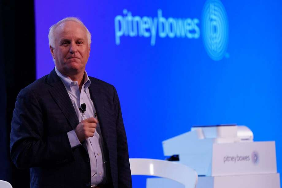 Pitney Bowes CEO Marc Lautenbach on Sept. 12, 2017, in New York City. Photo: Business Wire