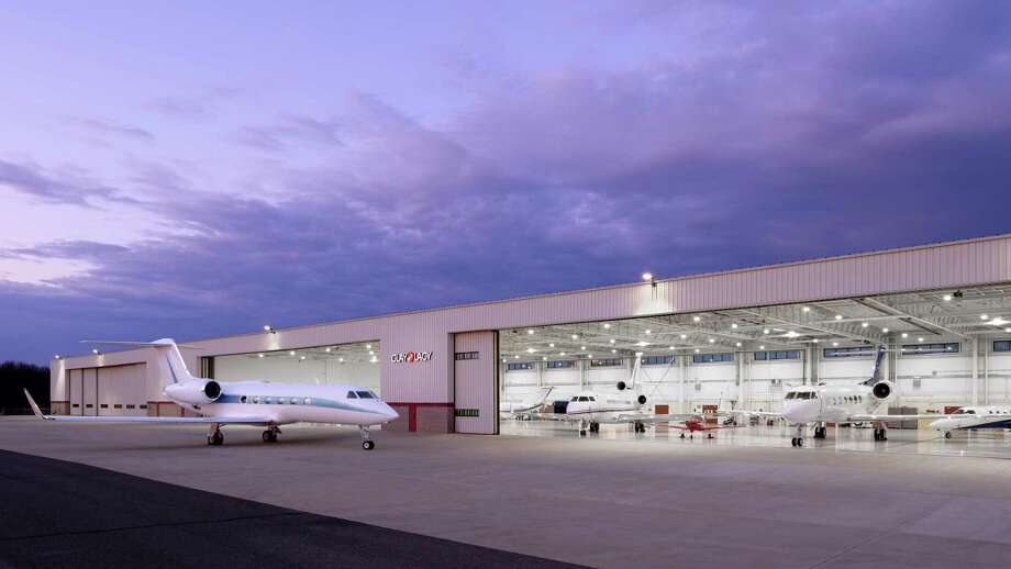Private aviation operation company Clay Lacy Aviations has been increasing its presence in the Northeast. The California-based company has a hangar at Oxford Airport. Photo: Dylan Patrick / Contributed Photo / Dylan Patrick Photography Inc.