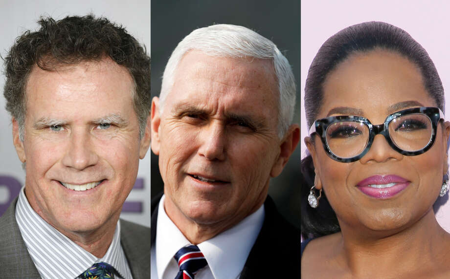 "Vice President Mike Pence's message to Oprah Winfrey and Will Ferrell: ""I'm kind of a big deal too."" Photo: Getty Images"