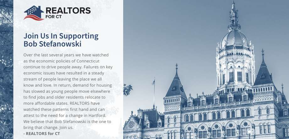A screenshot from the Realtors for Connecticut page supporting Bob Stefanowski. Photo: Realtors For Connecticut