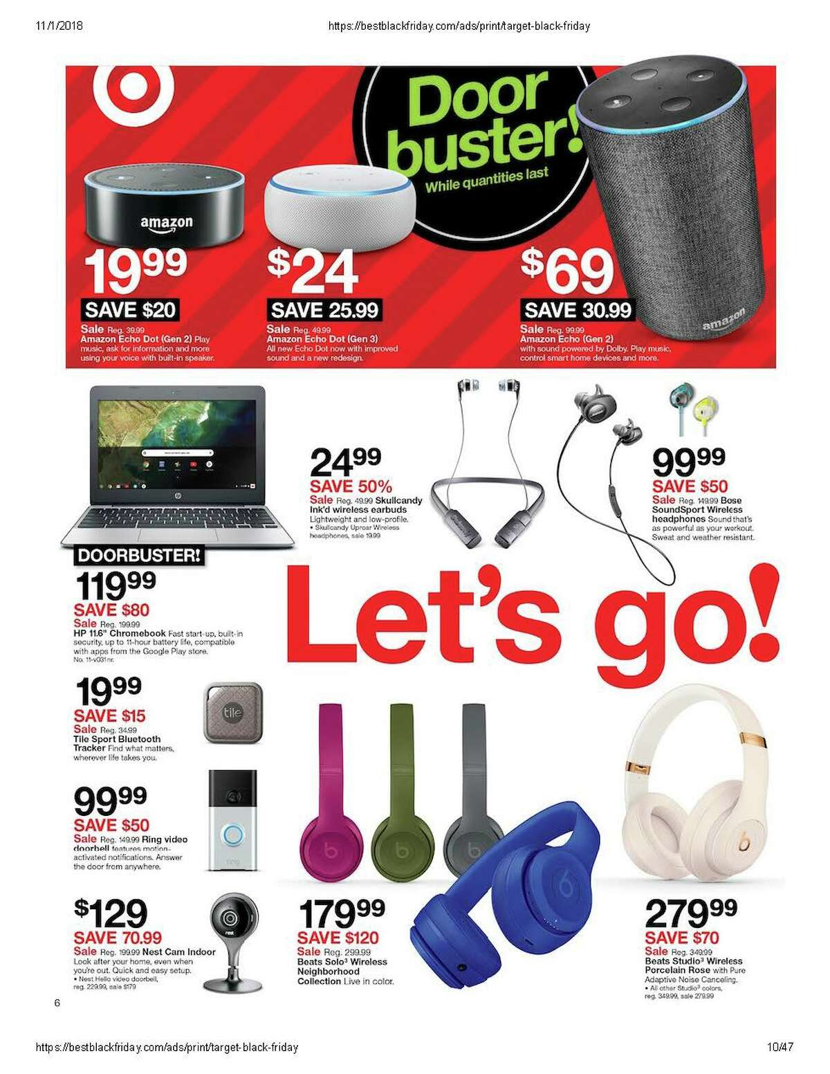 Target released its Black Friday advertisement on Thursday, Nov. 1, 2018.