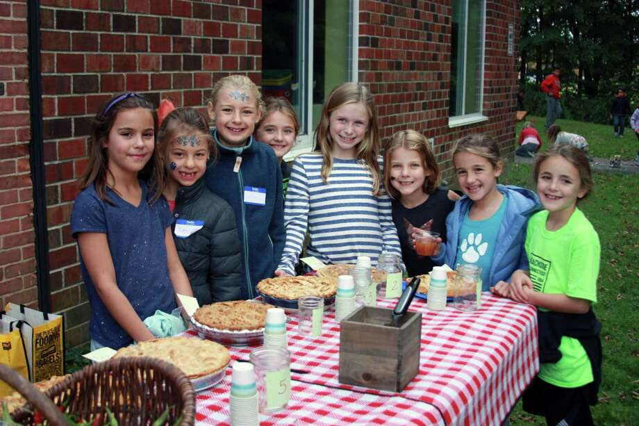 Students participate in South School's inaugural Garden Harvest Day on Oct. 14 in New Canaan. Photo: Contributed Photo