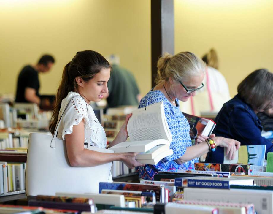 The Friends of the Byram Shubert Library will hold their huge semi-annual Book and Media Sale at St. Paul Lutheran Church, 55 William St. W., Byram. More than 40,000 items are available for purchase at wonderful prices. The hours are 5 to 8 p.m. Friday, from 9 a.m. to 4 p.m. Saturday, and noon to 4 p.m. Sunday, with the bag and box sale when shoppers can fill bags or a box at significantly reduced prices. For more information, call the library at 203.531.0426. Photo: Bob Luckey Jr. / Hearst Connecticut Media / Greenwich Time