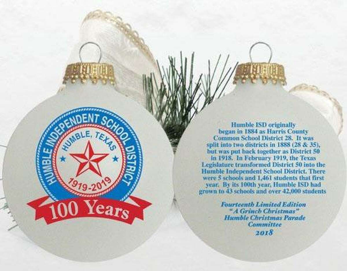 City of Humble's official 2018 Christmas Ornament.