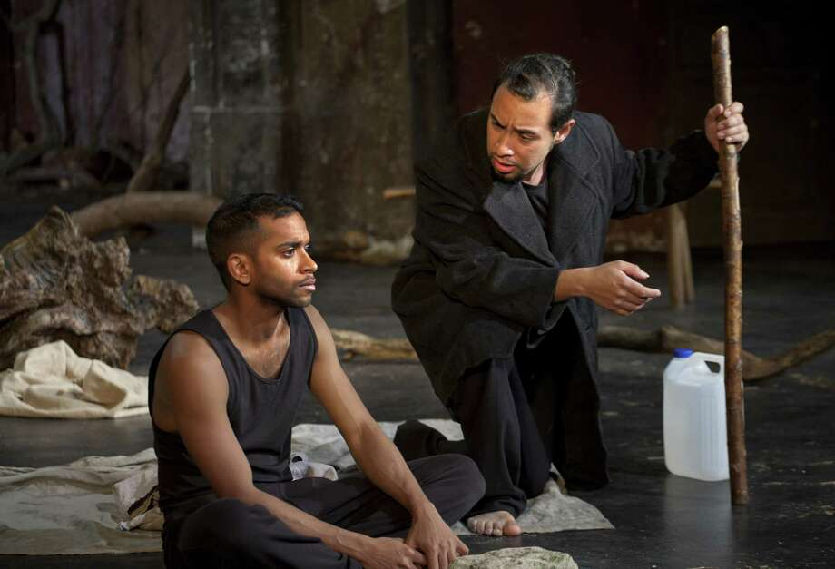 "Hiran Abeysekera and Omar Silva in ""The Prisoner."" Photo: Courtesy Of Simon Annand"