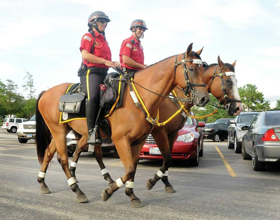 The Woodlands Township Board of Directors approved a reduction of more than 200 weekly hours for the Mounted Patrol, eliminating patrols of the Walmart Supercenter and Costco along State Highway 242. Photo: David Hopper, Freelance / For The Chronicle / Freelance
