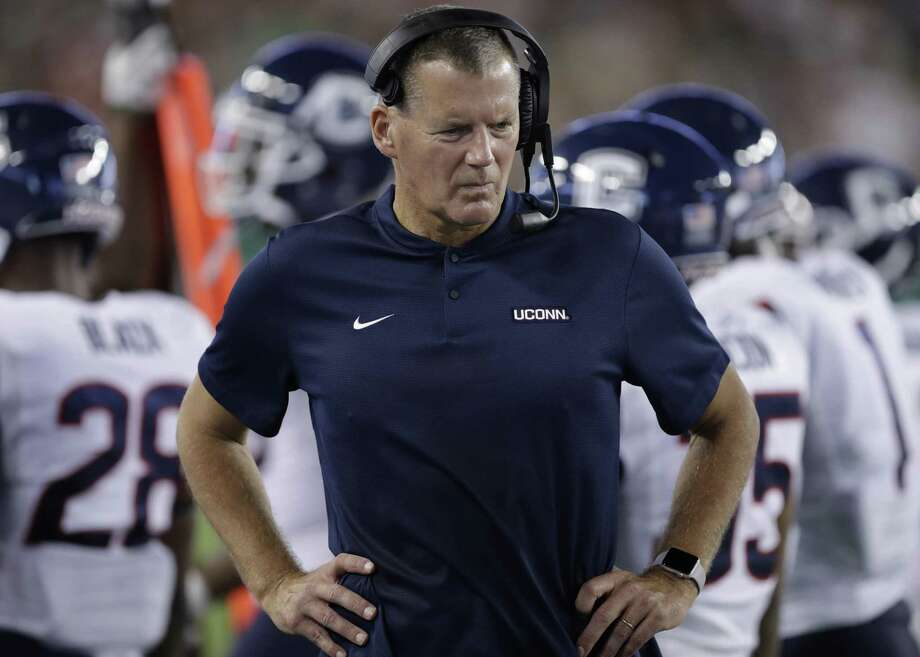 UConn coach Randy Edsall during the first half of a game against South Florida on Oct. 20. (AP Photo/Chris O'Meara) Photo: Chris O'Meara / Associated Press / Copyright 2018 The Associated Press. All rights reserved.