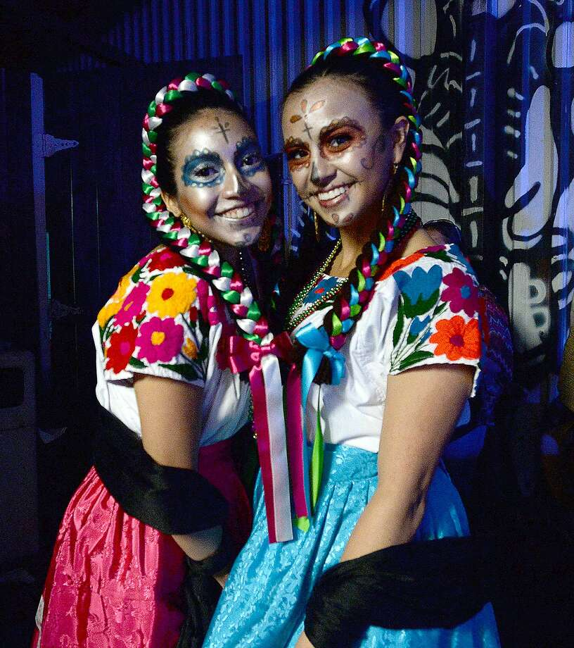 Nohemi Gutierrez and Micaela Moreno were at the annual Dia De Los Muertos celebration at Tacos La Bamba, Thursday. Live music, $1 tacos and costumes were among the highlights of the event. Photo taken Thursday, November 1, 2018 Kim Brent/The Enterprise Photo: Kim Brent/The Enterprise