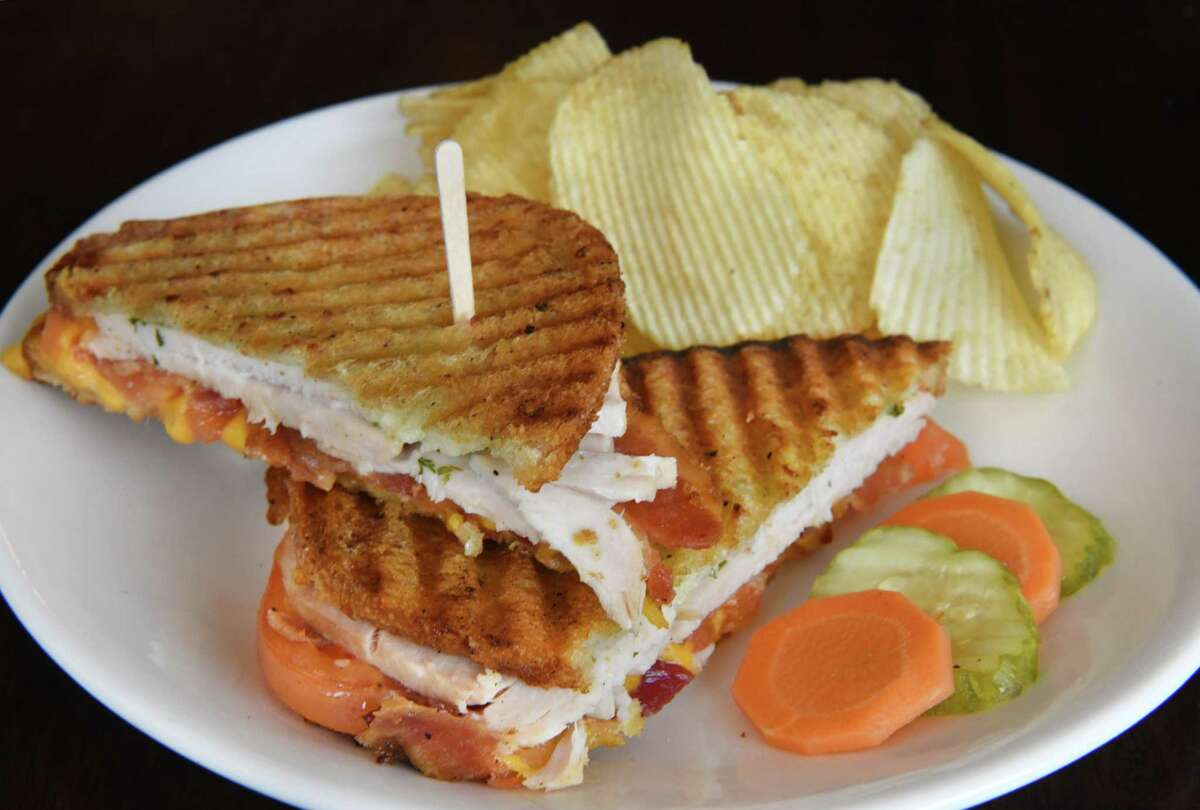 A Turkey Panini at Loch & Quay restaurant Thursday Oct. 25, 2018 in Albany, NY. (John Carl D'Annibale/Times Union)