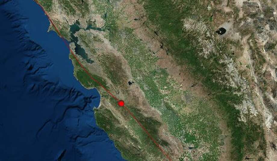 A series of small quakes struck an area east of Salinas early Friday morning. Photo: USGS