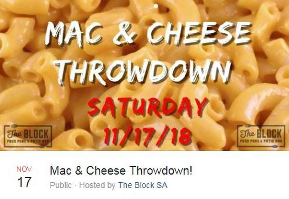 The Block SA has scheduled the Mac and Cheese Throwdown to take place Nov. 17 at 1 p.m. Photo: Facebook Screengrab