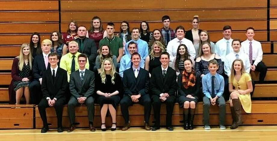 Theseare Elkton-Pigeon-Bay Port Laker's officers and new inductees in the local National Honor Society chapter.