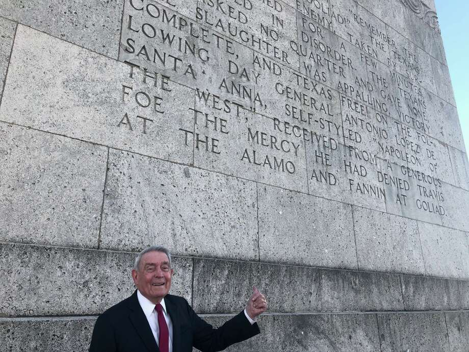 Dan Rather told Chron.com about the first time he visited the San Jacinto Monument as a young Heights-area third grader.  Photo: David Avila Jr / Iris Foust