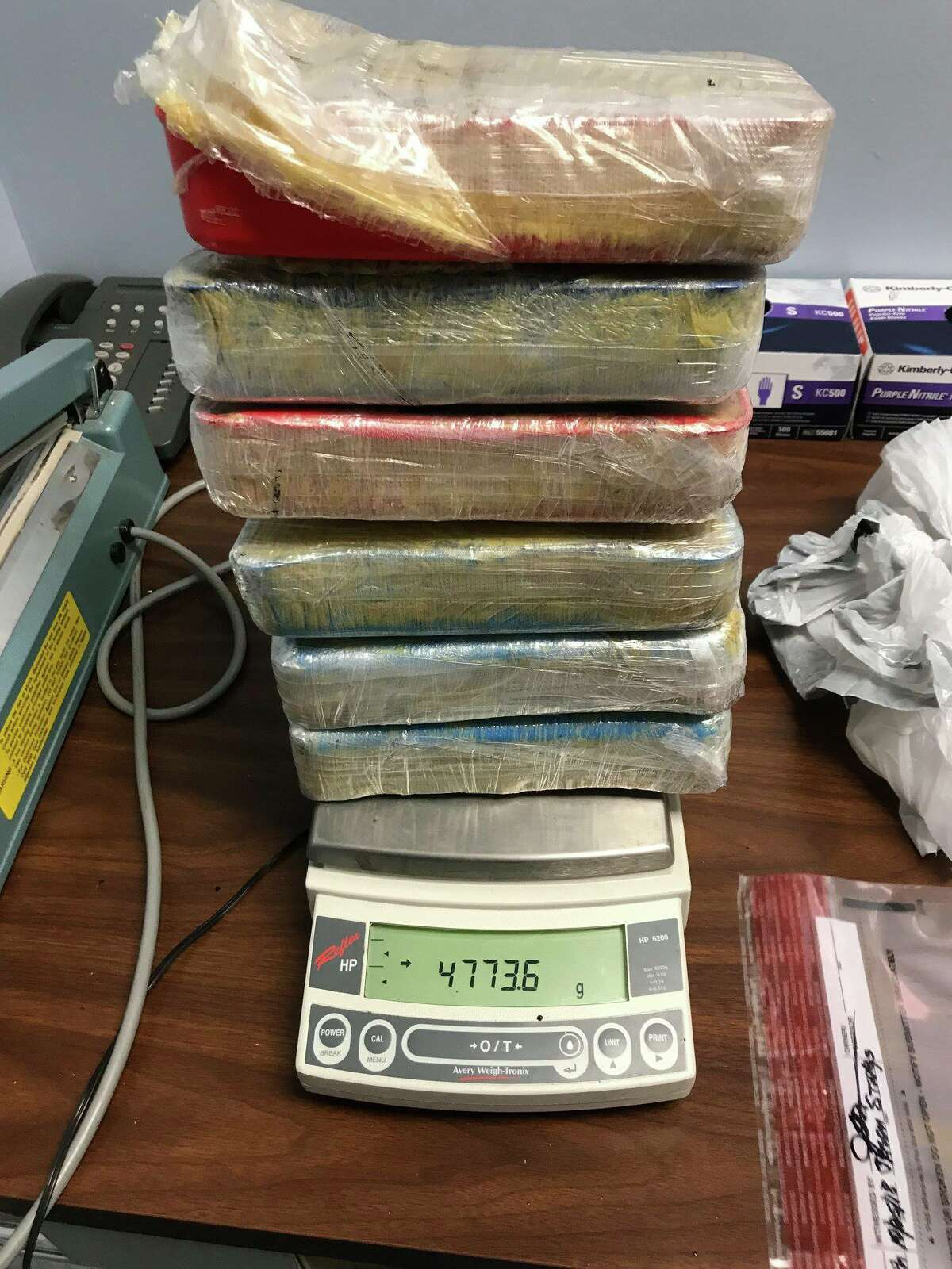 The Bexar County Sheriff's Office seized nearly 40 pounds of methamphetamine in a drug bust on Oct. 30, 2018.