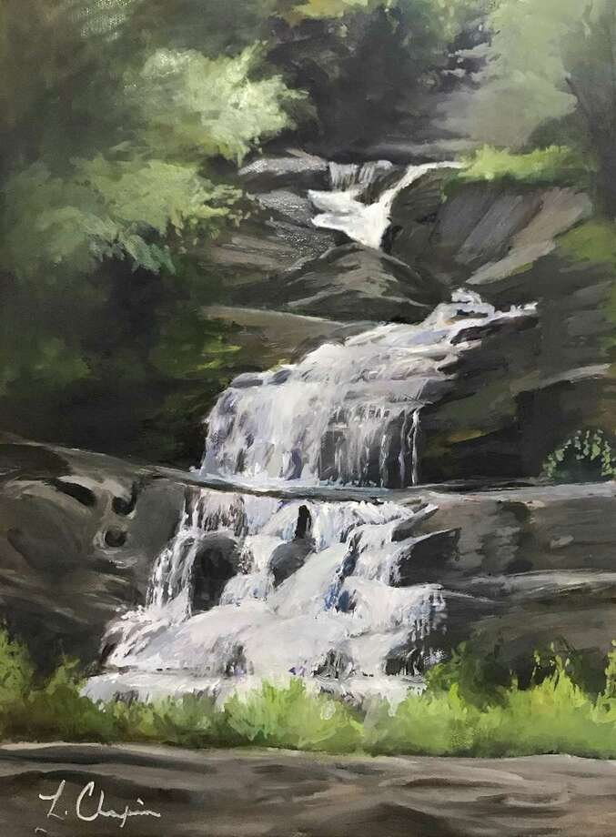 """Kent Falls,"" oil painting by Lorraine Skelskey Chapin. Photo: Fine Line Art Gallery / Contributed Photo"