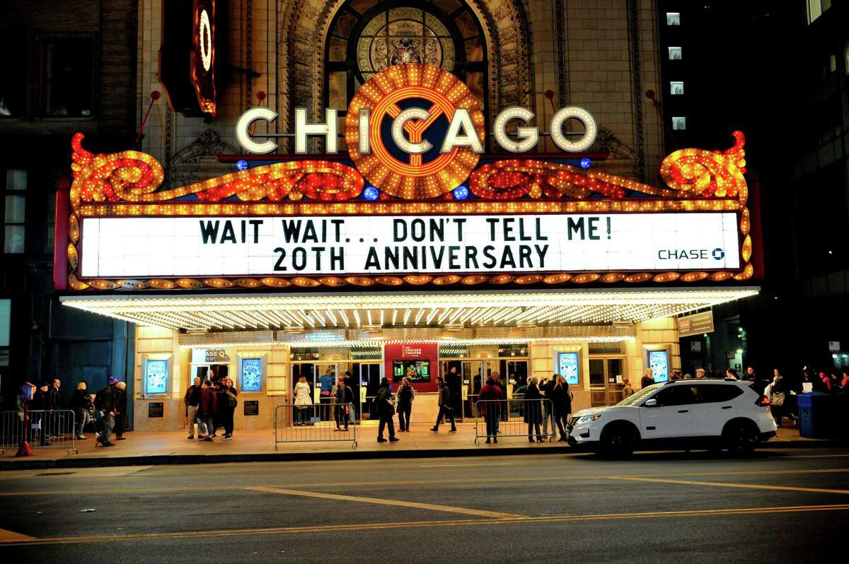 """The popular NPR radio show and podcast """"Wait, Wait ... Don't Tell Me!"""" celebrated its 20th anniversary last month with a special show at the Chase Bank Auditorium in Chicago."""