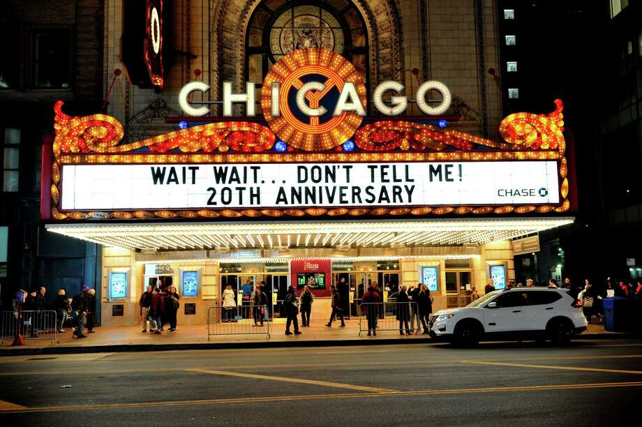 """The popular NPR radio show and podcast """"Wait, Wait ... Don't Tell Me!"""" celebrated its 20th anniversary last month with a special show at the Chase Bank Auditorium in Chicago. Photo: Rob Grabowski / Rob Grabowski"""