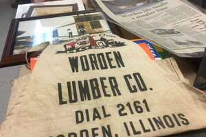 Reminders of the long and storied history of Worden Lumber Company are strewn about the business's office space. The business is closing its doors after more than a century in operation.