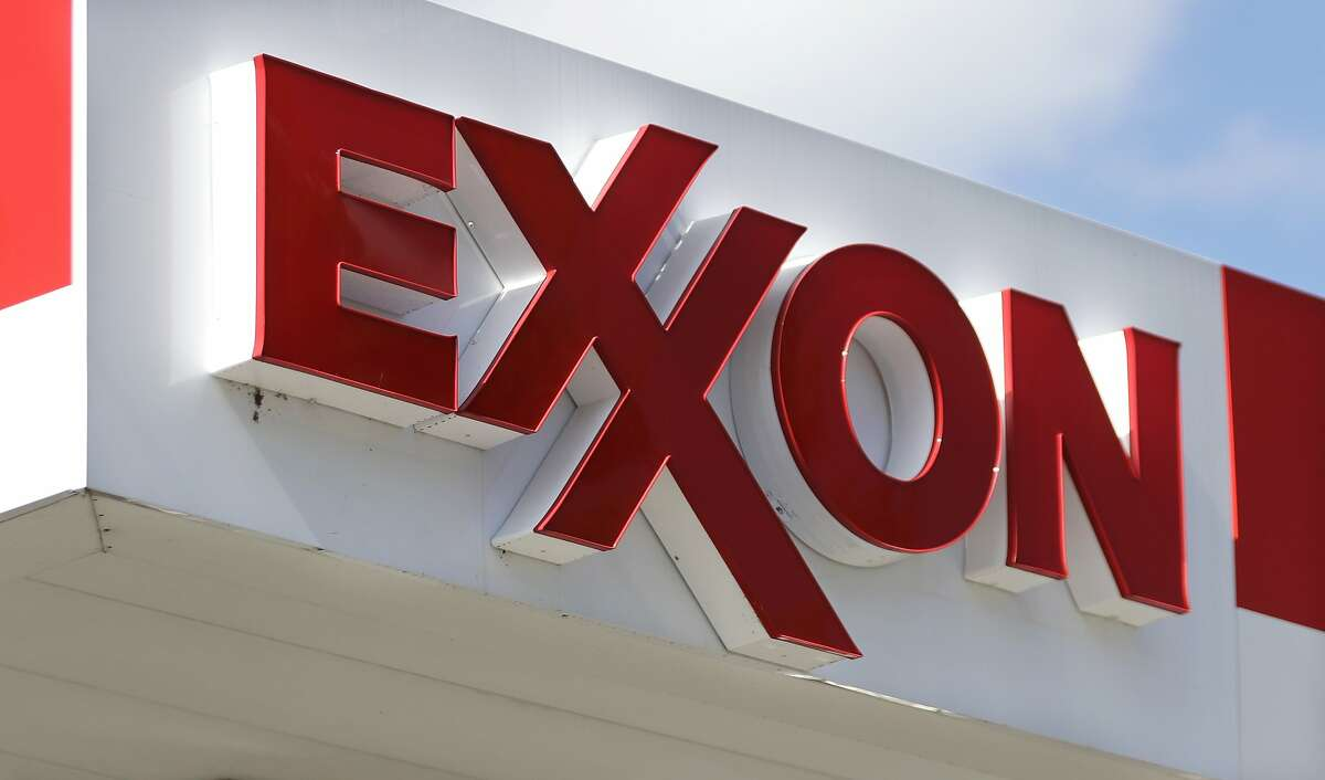 FILE- This April 25, 2017, file photo, shows an Exxon service station sign in Nashville, Tenn.