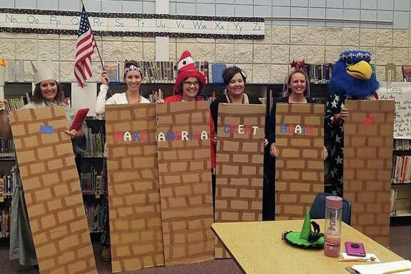 "Teachers and other workers at the Middleton School District in Idaho are under investigation for Halloween costumes the district superintendent calls ""clearly insensitive and inappropriate."" Some staffers wore stereotypical Mexican costumes and others came as portions of a border wall."