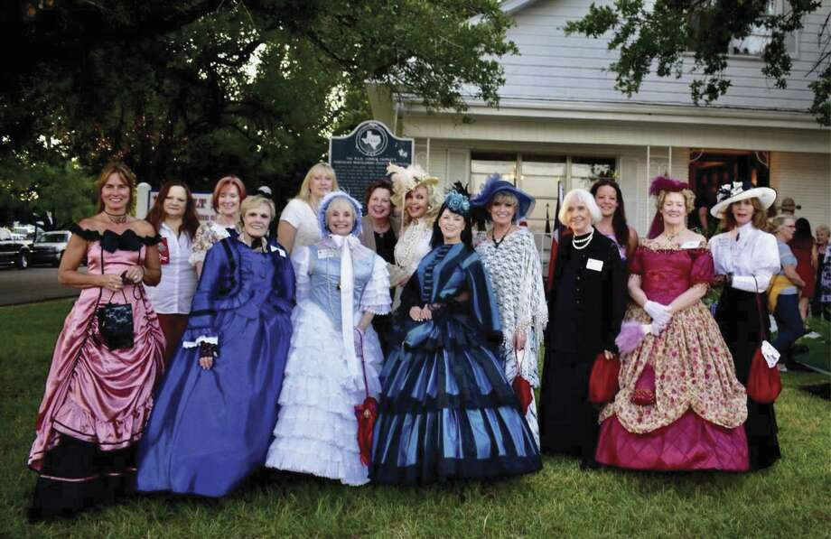 RJOA Southern Belle Docents hosting at the Conroe Founder's Day event were Barbara Jean Hawkins, Faye Stallings, Sue Mennell, Roselane Polnick, Shana Arthur, Sandy Martin, Peggie Miller, Joy Montgomery, Anita Stevens, Lyn Howard and Elaine Collings.