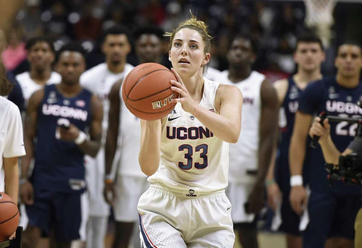 UConn senior Katie Lou Samuelson, whose health is a critical issue for the Huskies. (AP Photo/Jessica Hill, File)
