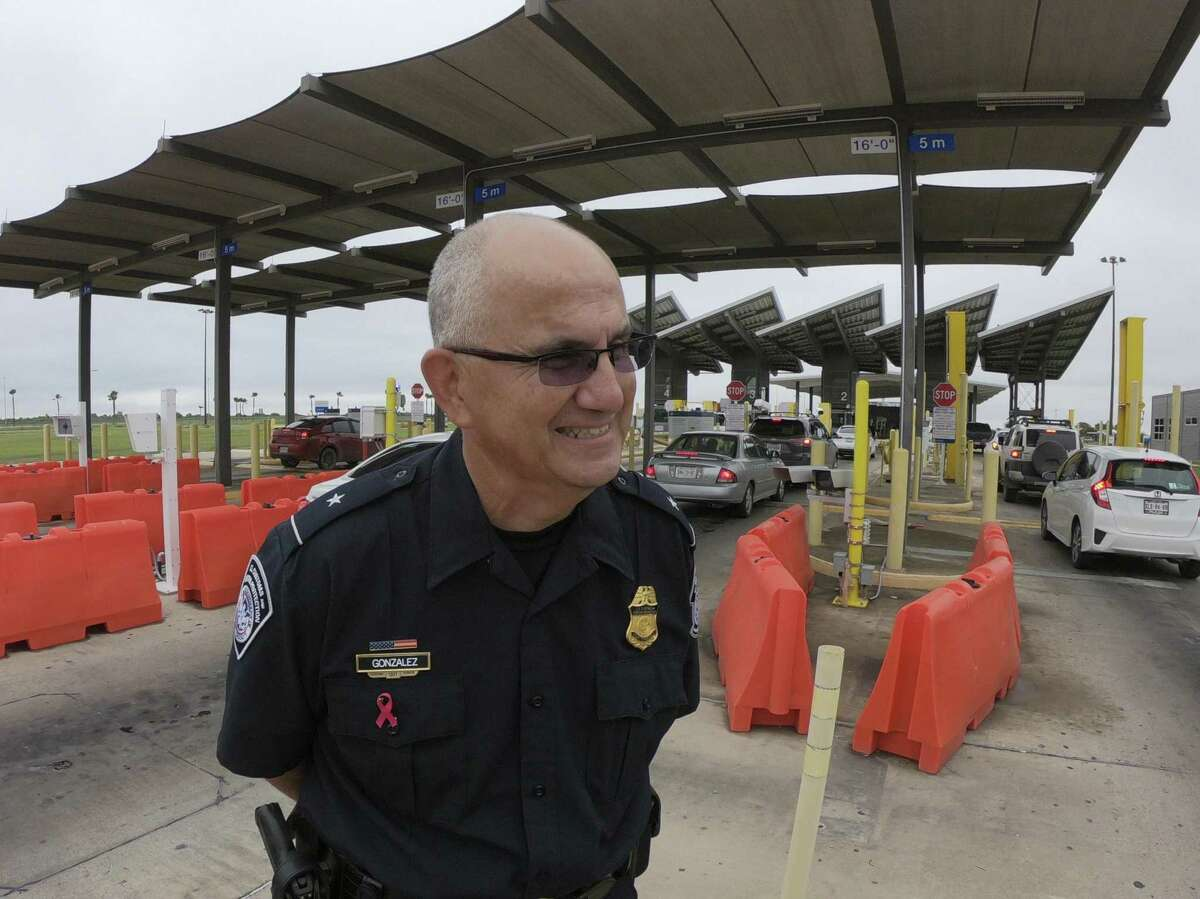 Port director David John Gonzalez of U.S. Customs and Border Protection speaks about the facial recognition biometric technology testing underway at the Anzalduas International Bridge in Mission on Friday, Oct. 19, 2018.