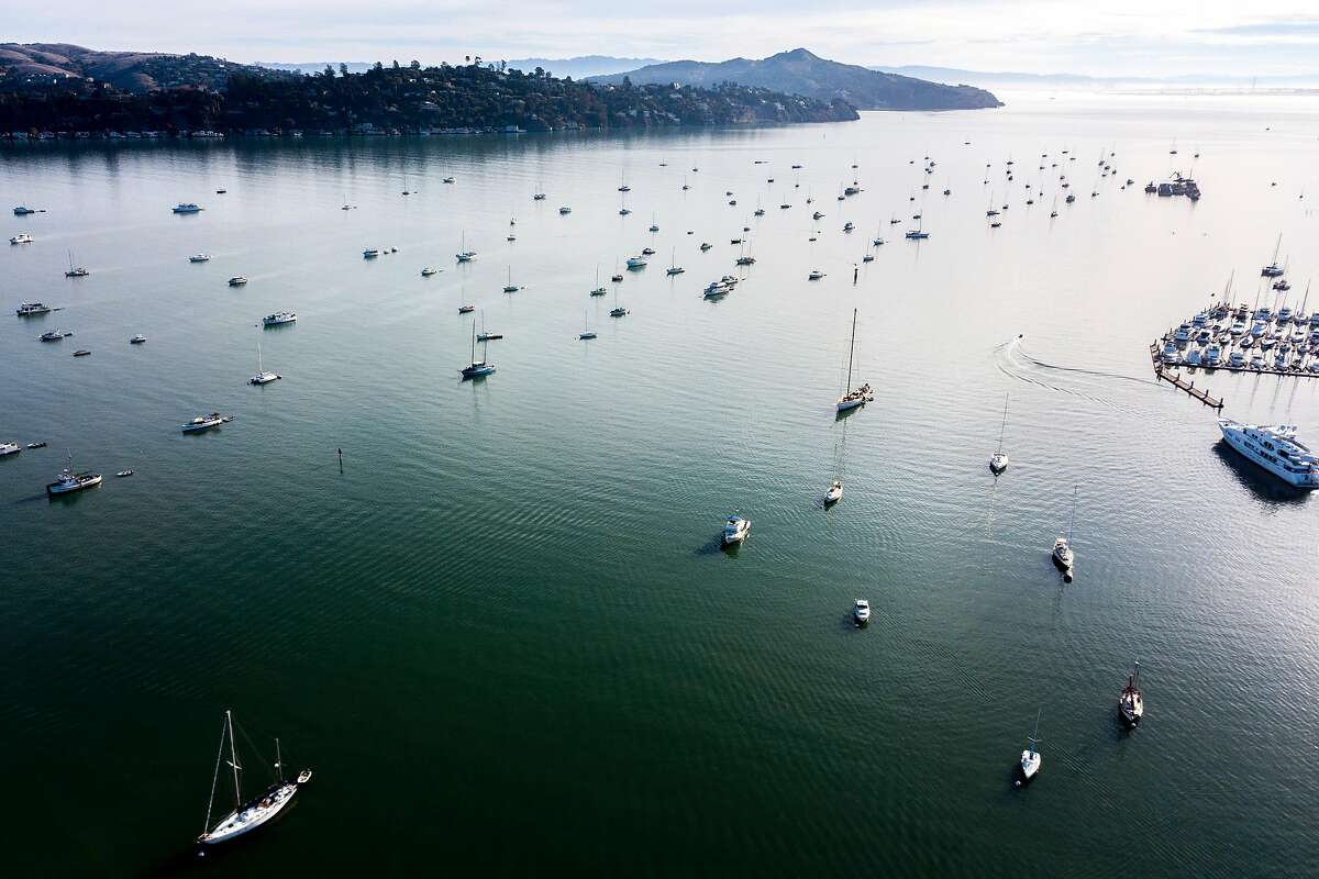 The anchor-outs in the Richardson Bay on Thursday, Nov. 1, 2018, in Sausalito, Calif.