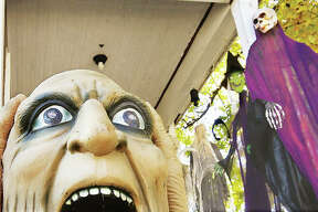 It may have been the trick-or-treaters who do the yelling this year when they visited a house with plenty of decorations in the 1100 block of Main Street in Alton.