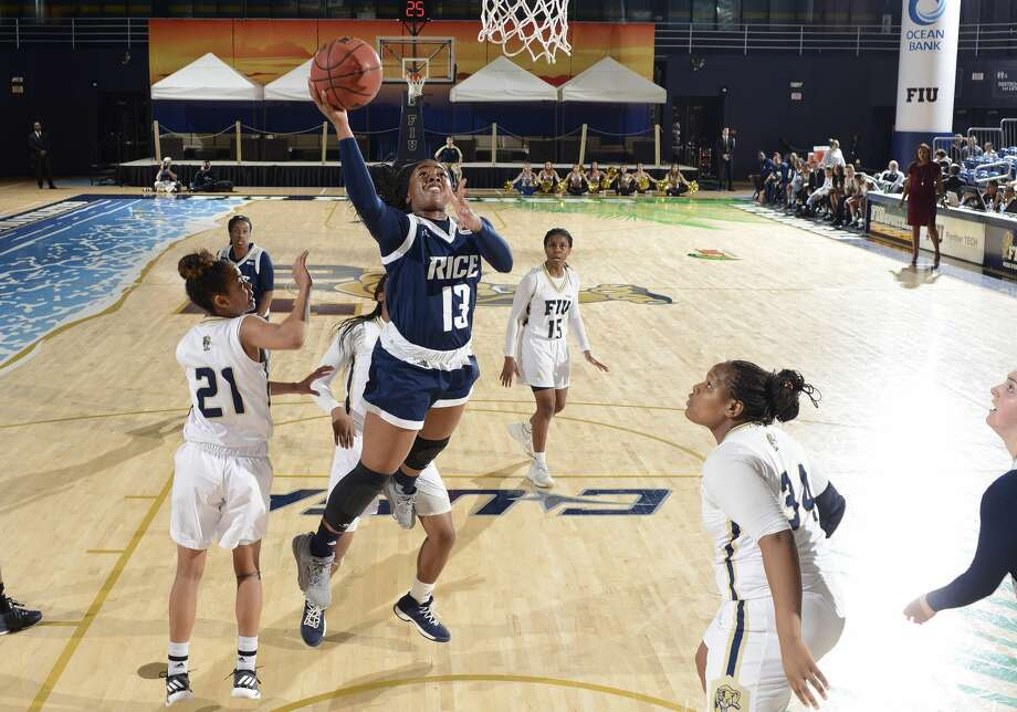 PHOTOS: Texas' best colleges for 2019, according to U.S. News and World Report  MIAMI, FL - JANUARY 13: Rice guard Erica Ogwumike (13) shoots during a college basketball game between the Rice University Owls and the Florida International University Panthers on January 13, 2018 at the Ocean Bank Convocation Center, Miami, Florida. FIU defeated Rice 68-58. (Photo by Richard C. Lewis/Icon Sportswire via Getty Images) >>>Browse through the photos for a look at Texas' best colleges for 2019, according to the U.S. News and World Report ... Photo: Icon Sportswire/Icon Sportswire Via Getty Images