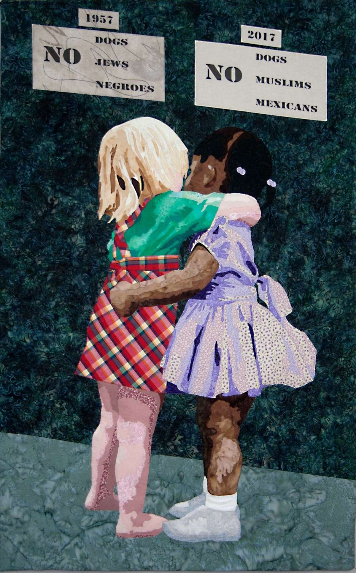 """""""Children don't see color, they see a friend,"""" said Sneyd, who made the Color Blind quilt. """"Prejudice is taught; they learn it from their parents or their environment. Children, at birth, are color blind."""""""
