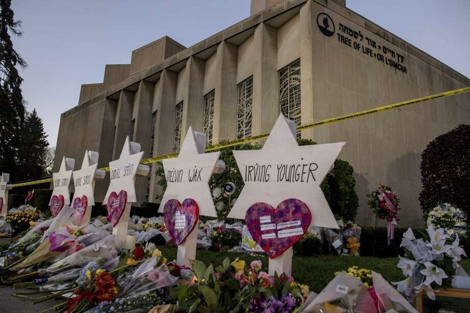 A memorial set up at the Tree of Life synagogue in Pittsburgh on Tuesday. The nation's leaders need to unite, not divide. Photo: HILARY SWIFT /NYT / NYTNS