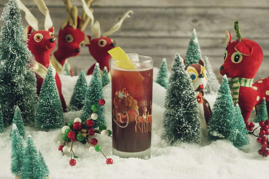 Run Rudolph Run is one of the cocktails that will be served at the Miracle on Houston Street pop-up bar this holiday season. Photo: Melissa Hom / Miracle