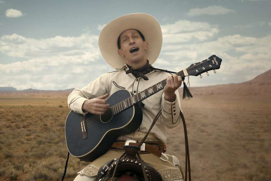 """Tim Blake Nelson has the title role in """"The Ballad of Buster Scruggs,"""" which will run in theaters first. Photo: Netflix"""