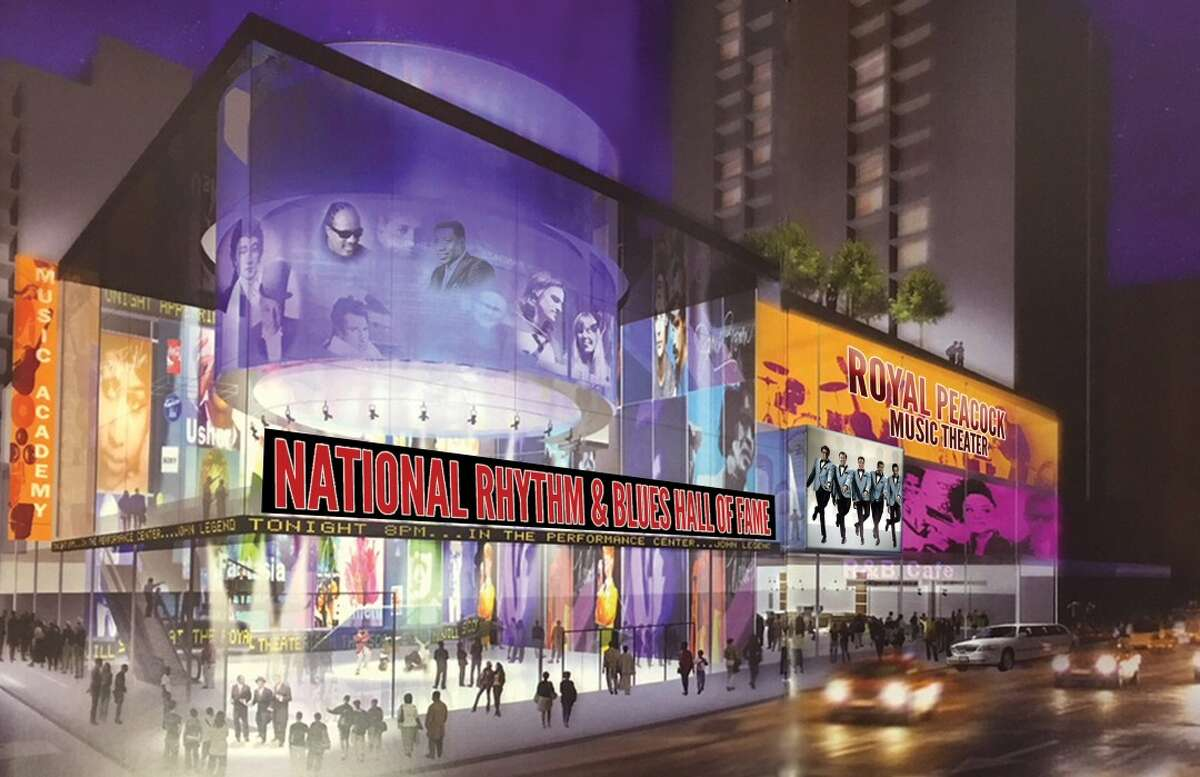 Mock-up plans for the National R&B Hall of Fame. Vallejo is being considered as a possible site for the museum, the project's founder and CEO LaMont Robinson said.
