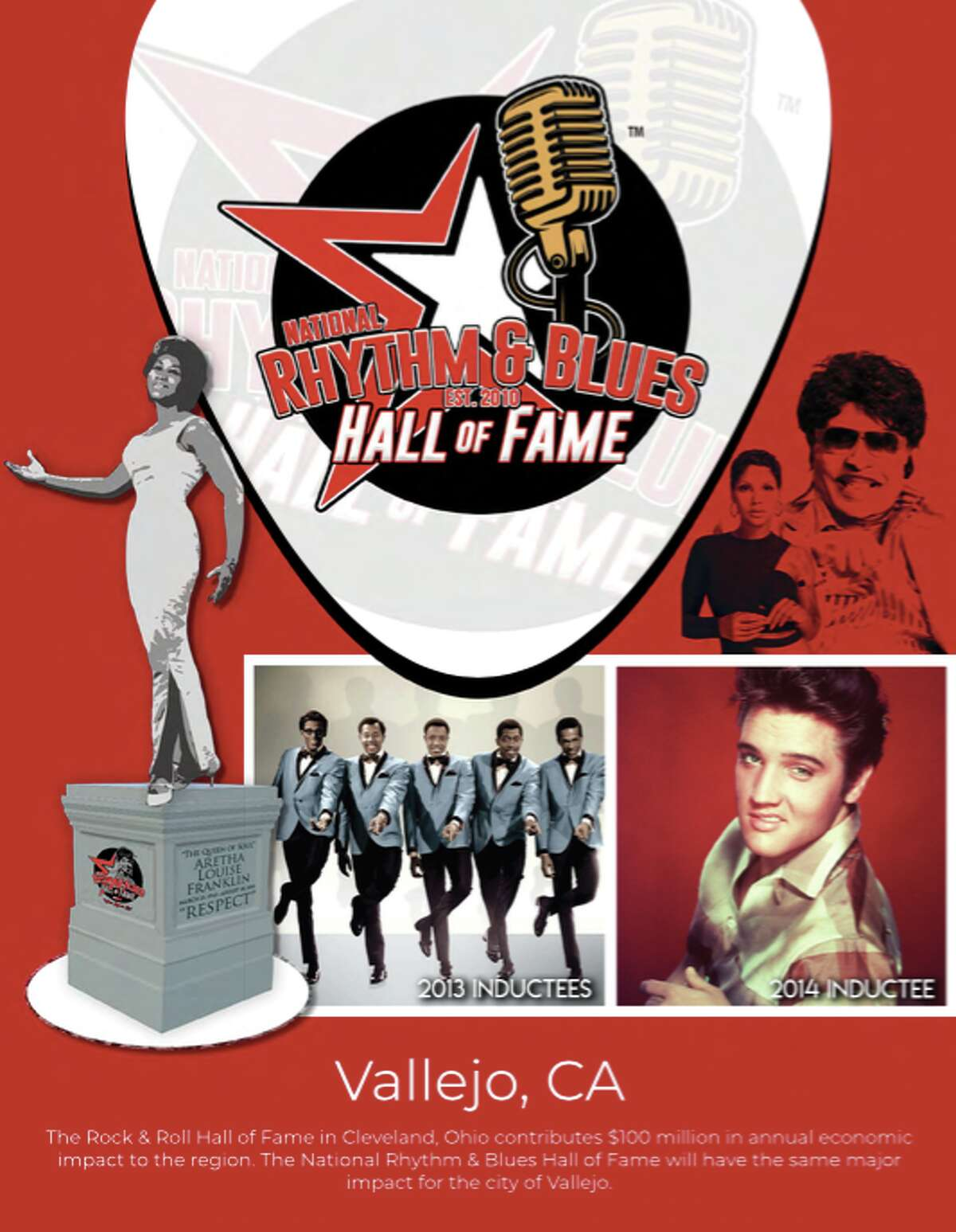 Vallejo is being considered as a possible site for the National R&B Hall of Fame, the project's founder and CEO LaMont Robinson said.
