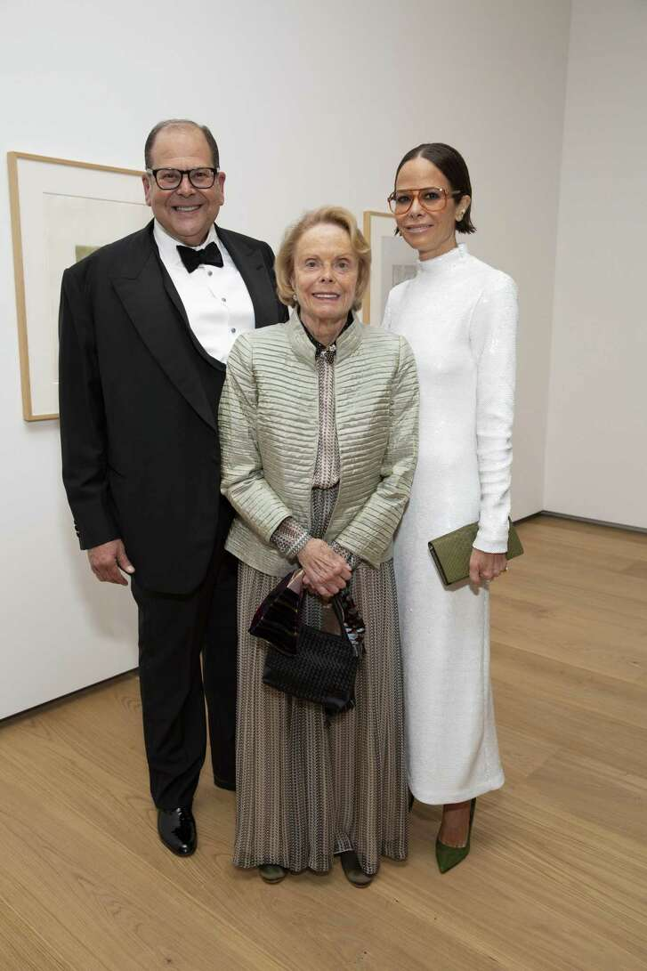 Christopher Sarofim, Louisa Stude Sarofim (for whom the new Menil Drawing Institute building is named) and Allison Sarofim at the MDI Gala on Nov. 1.