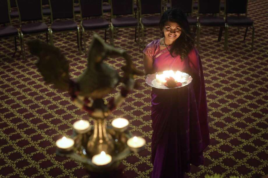 Dr. Rani Gandham poses for a photo inside the Hindu Cultural Center on Wednesday, Oct. 31, 2018, in Colonie, N.Y. Dr. Gandham, a volunteer at the center, is involved with the celebration of Diwali (festival of lights) that will be held at the center on November 10th.    (Paul Buckowski/Times Union) Photo: Paul Buckowski / (Paul Buckowski/Times Union)