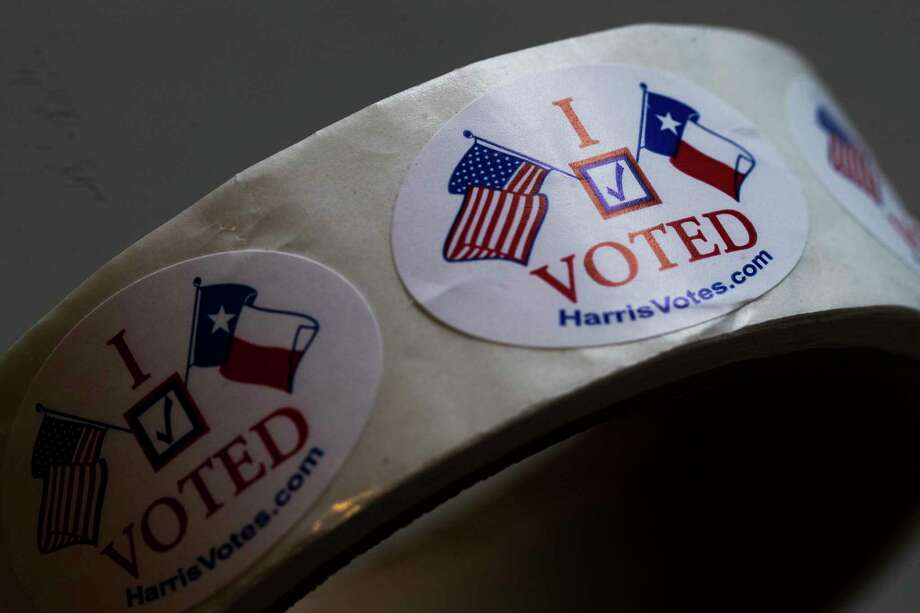These stickers can save you money on food and drink during Election Day on Tuesday. >>Here are the local joints offering discounted food just for voting... Photo: Marie D. De Jesus, Houston Chronicle / Houston Chronicle / © 2018 Houston Chronicle
