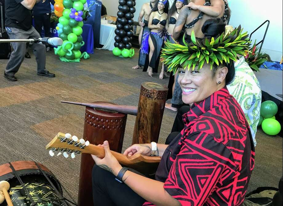 United threw a Tahitian themed party at the gate at SFO for the inaugural nonstop to Tahiti Photo: Chris McGinnis