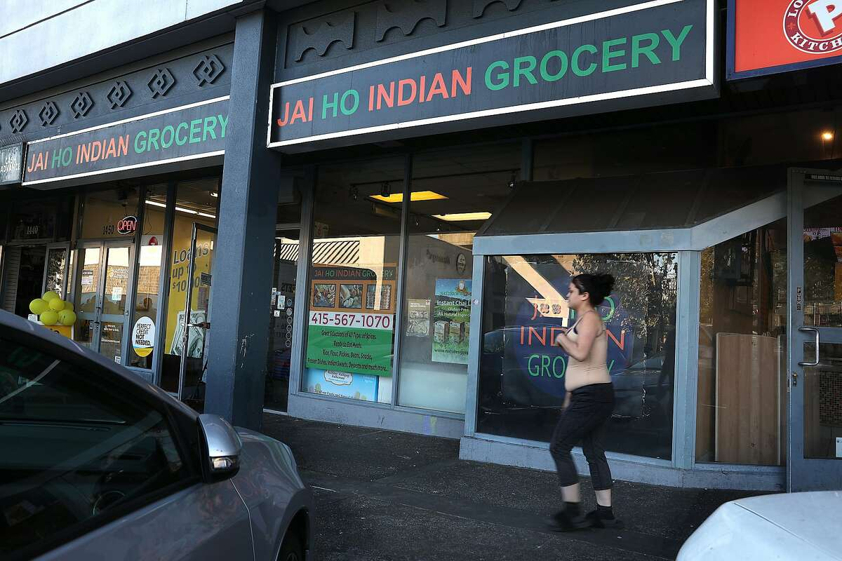 Outside view of Jai Ho Indian grocery store on Thursday, Nov. 1, 2018, in San Francisco, Calif.