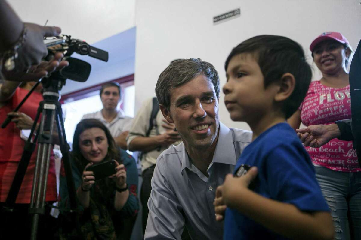 U.S. Rep. Beto O'Rourke on the campaign trail in Brownsville.