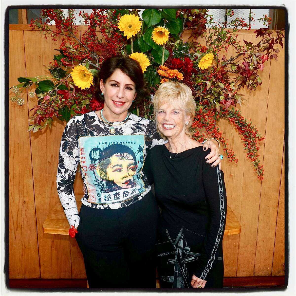 Lisa Mirza Grotts (left) and Carol Simone at Greens Restaurant. Oct. 28, 2018.