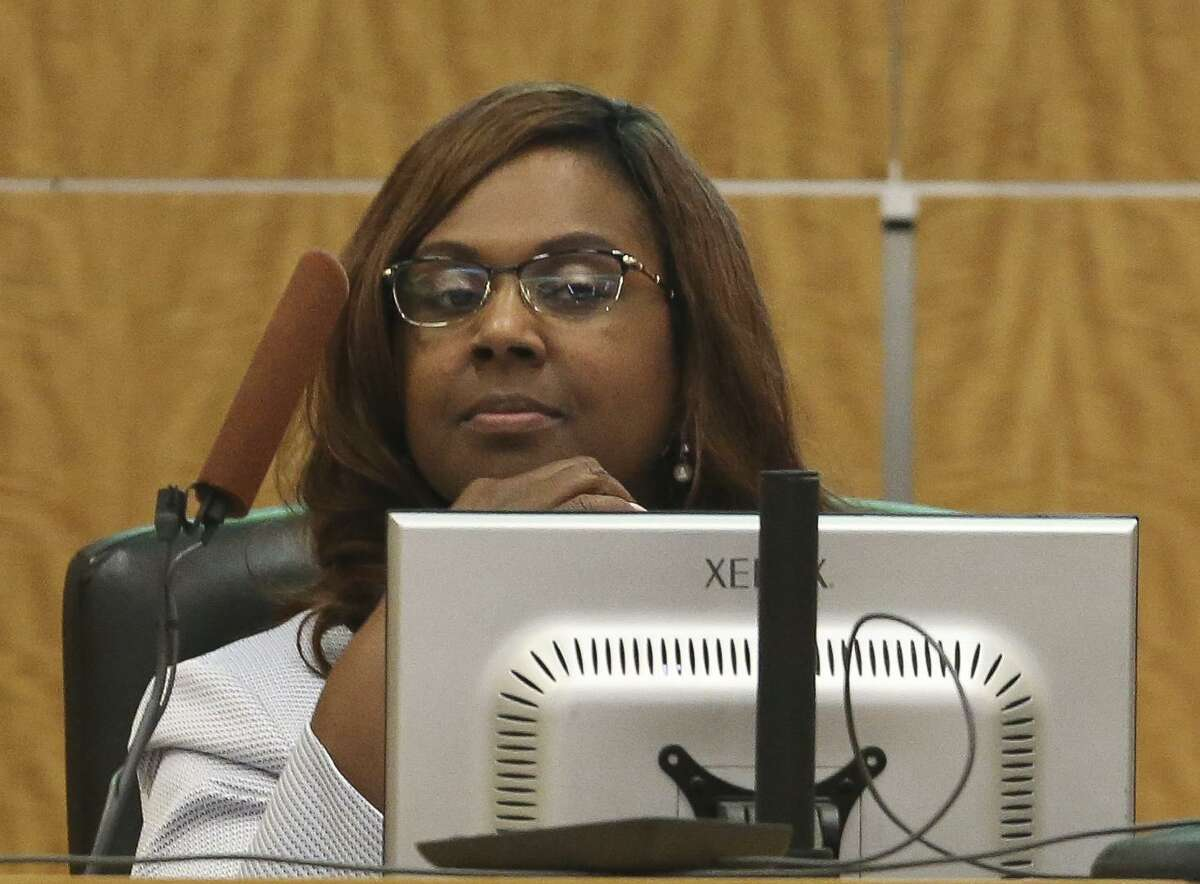 Houston ISD Interim Superintendent Grenita Lathan is photographed during a school board meeting on Thursday, June 14, 2018, in Houston. >>Where are the best middle schools in the Houston area? Find out, according to Niche, in the photos that follow...